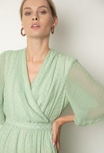 Шифоновое платье светло-зелёного цвета Emka PL1132/clayton