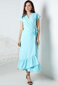 Летнее голубое платье TopDesign A20040