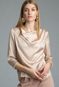 Бежевая блузка Emka B2575/mafir