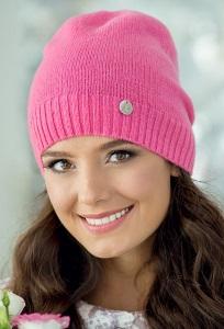 Молодёжная шапка розового цвета Landre Берта
