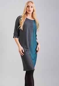 Трикотажное платье TopDesign Premium B8 001