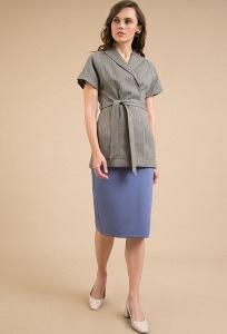 Синяя офисная юбка-карандаш Emka S699/vance