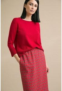 Красная юбка в клетку Emka S849/vilasa
