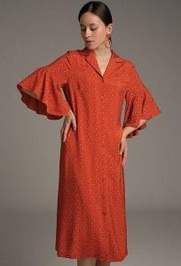 Длинное платье рубашечного кроя Emka PL1018/hold