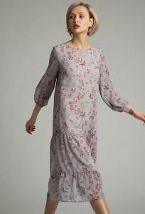 Легкое шифоновое платье на подкладке Emka PL1010/devito