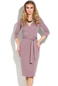 Трикотажное платье лилового цвета Donna Saggia DSP-261-42t