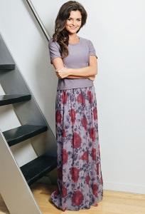 Длинная летняя юбка TopDesign A7 068