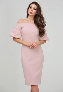 Платье трикотажное с рукавом фонарик Donna Saggia DSP-314-17t