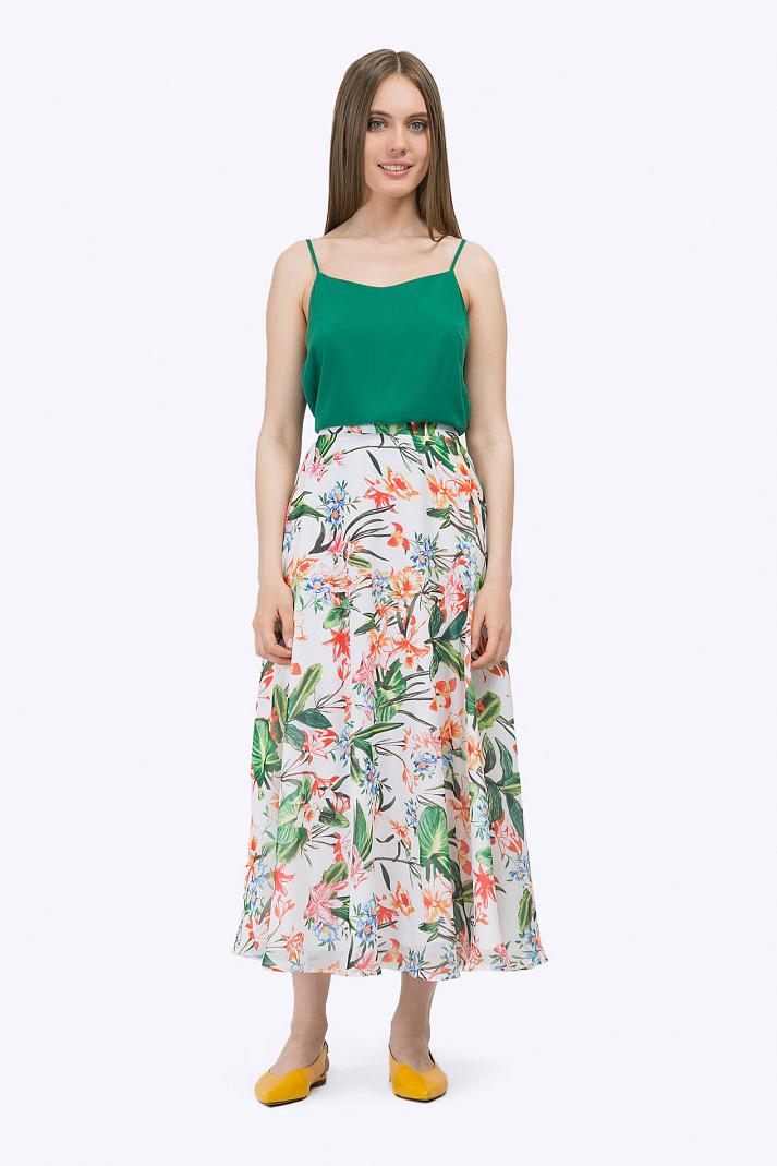 806d69b19110 Лёгкая длинная юбка-полусолнце Emka S711/floral купить в интернет ...