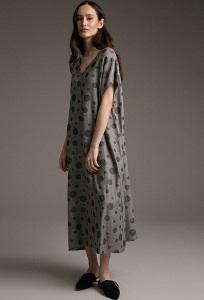 Длинное платье свободного кроя Emka PL1021/belfast