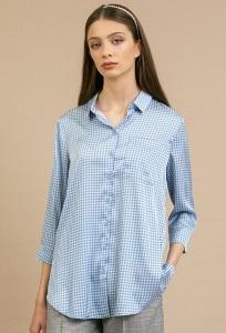 Рубашка с орнаментом гусиная лапка Emka B2198/antuanna