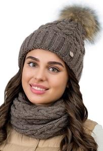 Комплект шапка с помпоном + снуд Landre Доротеа