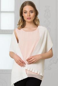 Женский широкий шарф белого цвета Landre Париж
