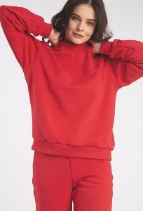Красный свитшот из трикотажа Emka B2604/bestil