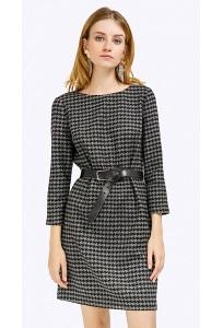 Темно-серое платье из полушерсти Emka PL879/gipsy