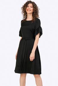 Чёрное платье А-силуэта Emka PL878/arty