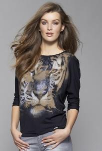 Стильная женская блузка с принтом Zaps Tia
