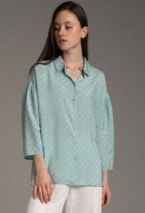 Легкая блуза в горошек Emka B2562/open