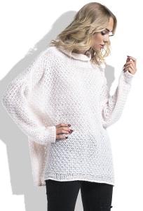 Теплый розовый свитер свободного кроя Fimfi I229
