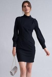 Черное платье полуприталенного силуэта Emka PL1060/zofia