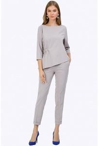 Зауженные брюки серого цвета с манжетам Emka D088/gabriella
