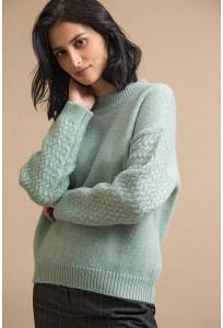 Женский свитер свободного кроя Emka B2496/emoji