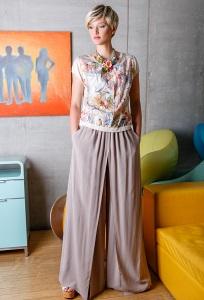 Широкие летние брюки Flaibach 051S6