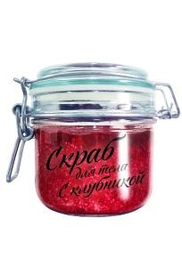 Скраб для тела ягодный с клубникой Valentina Kostina 200 мл (CLONE)