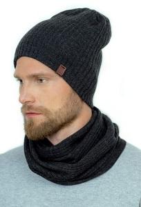 Мужской комплект тонкая шапка + снуд Landre Винсент