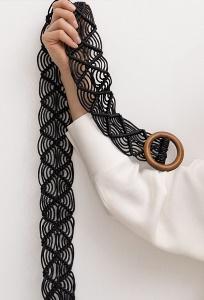Плетеный ремень макраме Emka F011/trak