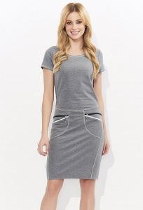 Летнее платье серого цвета Zaps Soma