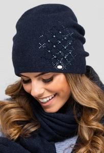 Тёмно-синяя шапка-бандана Kamea Asturia