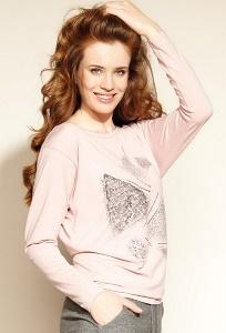 Трикотажная блуза розового цвета Zaps Micca