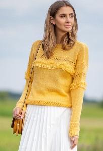 Лёгкий свитер жёлтого цвета Fobya F745