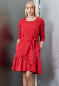 Красное платье TopDesign B9 041