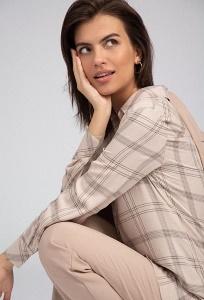 Удлиненная блузка рубашечного кроя Emka B2465/reunion
