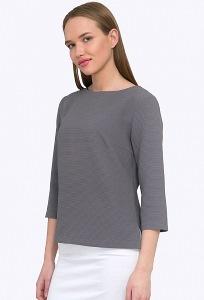 Серая блузка из жаккардовой ткани Emka B2204/galsana