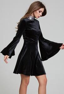 Чёрное бархатное платье Donna Saggia DSP-303-4t
