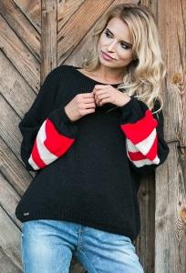 Чёрный свитер oversize Fobya F578