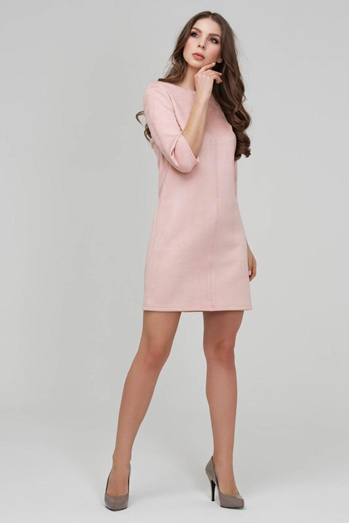 a823cbcc7e2 Замшевое платье розового цвета Donna Saggia DSP-315-80t купить в ...