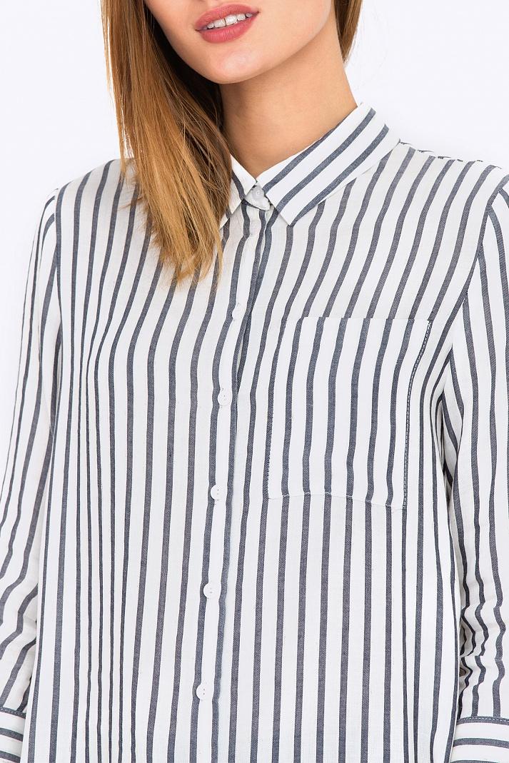 ed2ff5b271e Купить женскую рубашку в полоску Emka Fashion b 2198 kemina в  интернет-магазине недорого