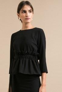 Черная оригинальная блузка Emka B2385/blackberry