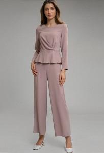 Пыльно-розовые брюки-кюлоты Emka D138/azarena