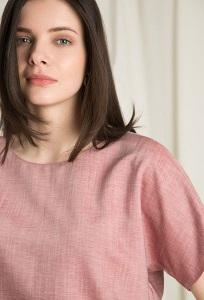 Летняя свободная легкая блуза Emka B2462/base