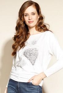 Белая трикотажная блузка с принтом Zaps Micca