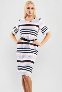 Летнее платье в полоску TopDesign A9 047