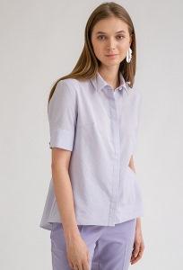 Блузка сиреневого цвета в полоску Emka B2394/zhaklin
