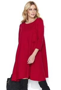 Красное широкое платье Makadamia M452
