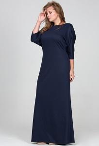Длинное платье тёмно-синего цвета Donna Saggia DSPB-14-41t