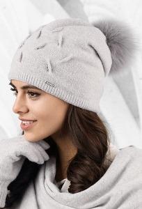 Женская шапка с помпоном Kamea Forli